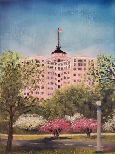 Edgewater Beach Apartments – 16″ x 12″ Oil on Canvas