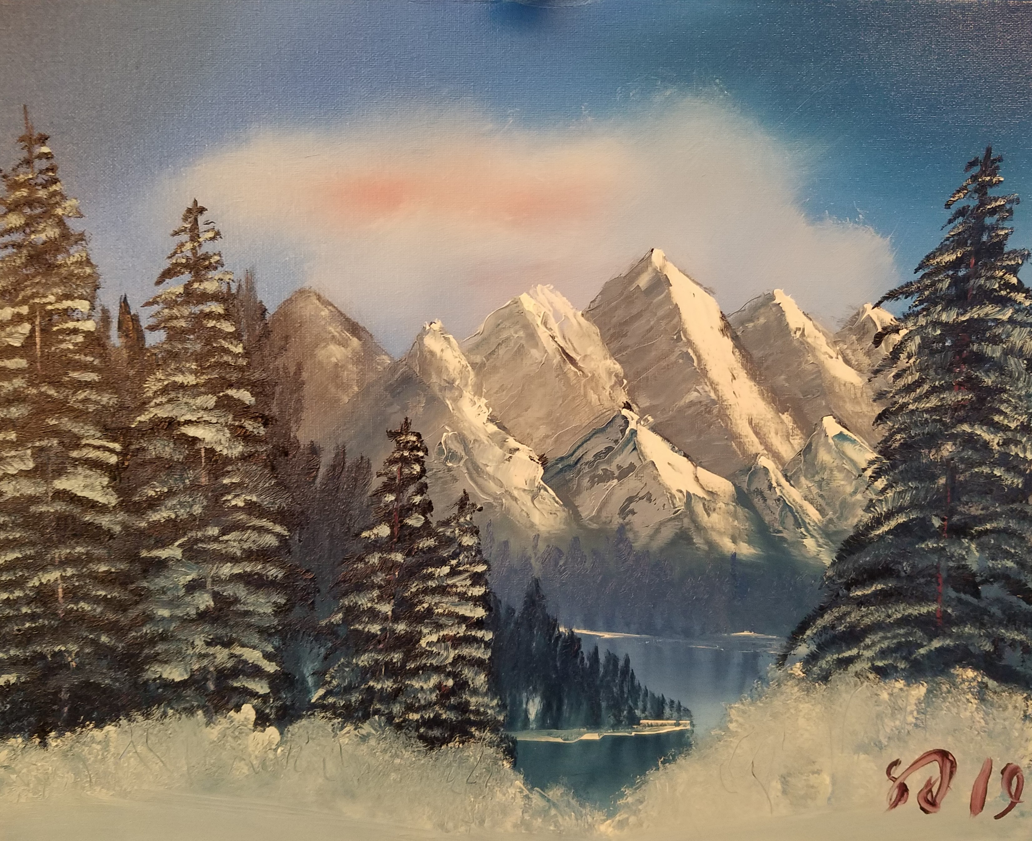 Painting 001 - Portrait of Winter - Cropped