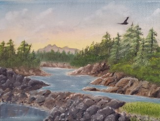 Clayoquot Sound – 9″ x 12″ Oil on Canvas