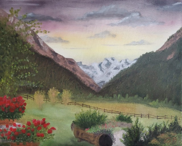 Painting 016 - Gran Paradiso Cropped