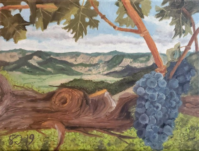 Painting 019 - Mountaintop Vineyard No 2 - Cropped