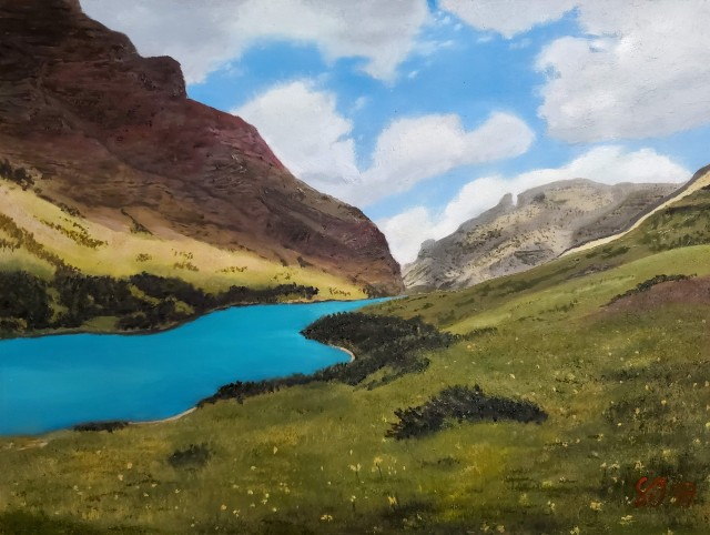 Painting 022 - Cracker Lake - Cropped