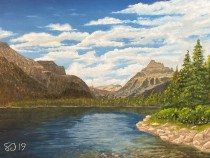 Lake McDonald – 12″ x 16″ Oil on Panel