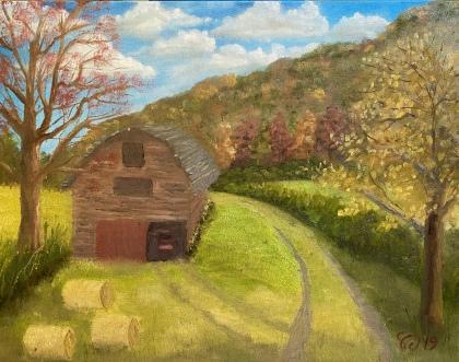Autumn Barn – 16″ x 20″ Oil on Canvas