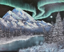 """Northern Lights - 16"""" x 20"""" Oil on Canvas"""