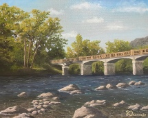"""Bridge Over the French Broad - 16"""" x 20"""" Oil on Canvas"""