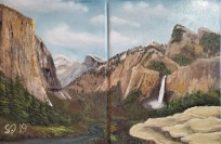 Yosemite Valley 1 and 2 – Twin 12″ x 9″ Oil on Canvas