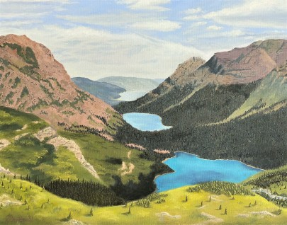 """Glacier Valley - 22"""" x 28"""" Oil on Canvas"""