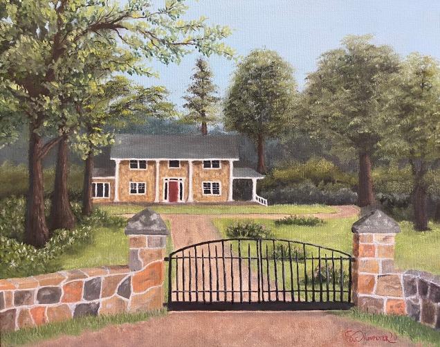 """McCoy Farm - 16"""" x 20"""" Oil on Canvas"""