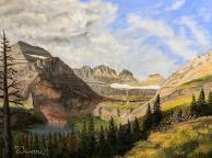"Grinnell Glacier - 12"" x 16"" Oil on Panel"